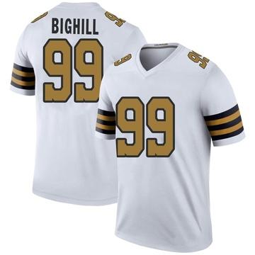 Men's Adam Bighill New Orleans Saints Legend White Color Rush Jersey