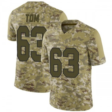 Men's Cameron Tom New Orleans Saints Limited Camo 2018 Salute to Service Jersey