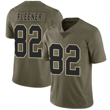 Men's Coby Fleener New Orleans Saints Limited Green 2017 Salute to Service Jersey