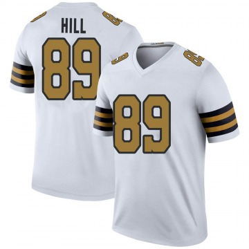 Men's Josh Hill New Orleans Saints Legend White Color Rush Jersey