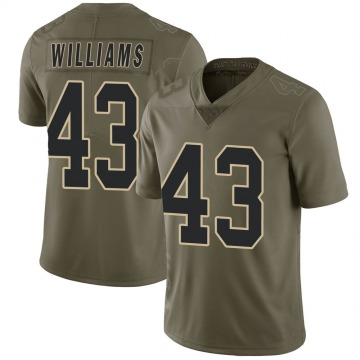 Men's Marcus Williams New Orleans Saints Limited Green 2017 Salute to Service Jersey