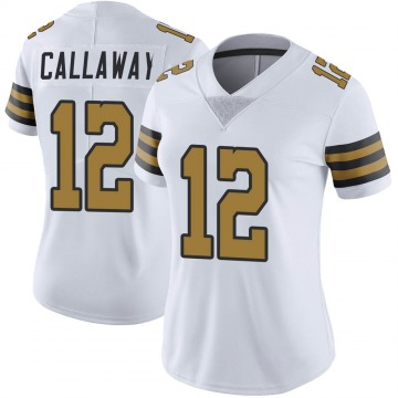 Women's Marquez Callaway New Orleans Saints Limited White Color Rush Jersey