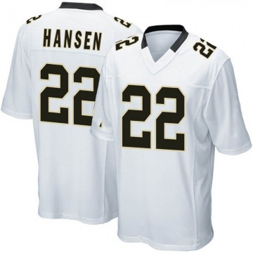 Youth Chase Hansen New Orleans Saints Game White Jersey