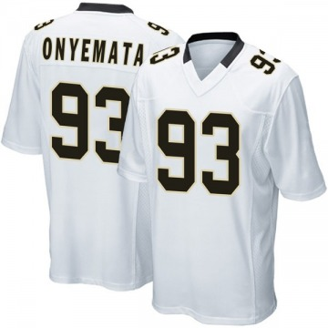 Youth David Onyemata New Orleans Saints Game White Jersey