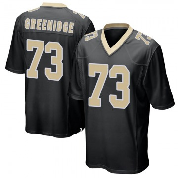 Youth Ethan Greenidge New Orleans Saints Game Black Team Color Jersey