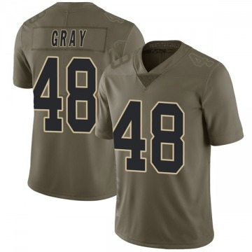 Youth J.T. Gray New Orleans Saints Limited Green 2017 Salute to Service Jersey