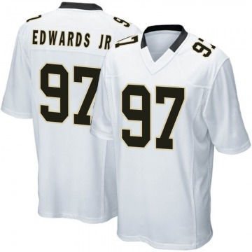 Youth Mario Edwards Jr. New Orleans Saints Game White Jersey