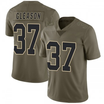 Youth Steve Gleason New Orleans Saints Limited Green 2017 Salute to Service Jersey