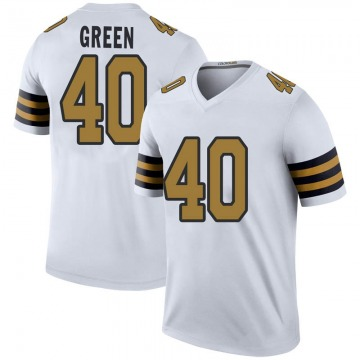 Youth T.J. Green New Orleans Saints Legend White Color Rush Jersey
