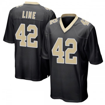 Youth Zach Line New Orleans Saints Game Black Team Color Jersey